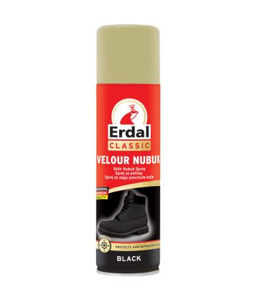 Սփրեյ Էրդալ, զամշի ու նուբուքի խնամքի համար, սև, 250մլ