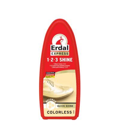 1-2-3 Կոշիկի փայլ սպունգ Էրդալ, արագ խնամքի համար, անգույն, 75մլ