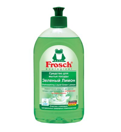 Սպասք լվանալու հեղուկ Ֆռոշ, կանաչ կիտրոն, 500մլ