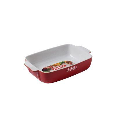 Ուղղանկյունաձև կարմիր  կերամիկական ձևաման Փայրեքս, 25 սմ