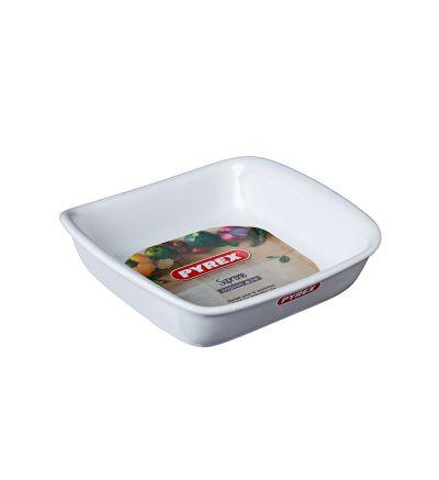 Քառակուսաձև սպիտակ կերամիկական ձևաման Փայրեքս, 24 սմ